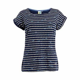 Weird Fish Thandi Patterened Cotton Jersey T-Shirt Dark Navy Size 8