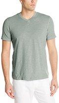 Mod-o-doc Men's Short Sleeve El Porto High V-Neck Vintage Fit Slub Jersey T-Shirtt