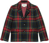 Gucci Children's wool tartan jacket