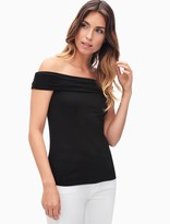 Splendid Rayon Jersey Off Shoulder Top