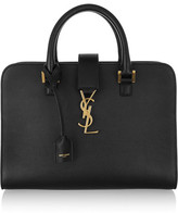 Saint Laurent Monogramme Cabas Small Leather Tote - Black