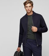 Reiss Harold - Knitted Bomber Jacket in Blue, Mens