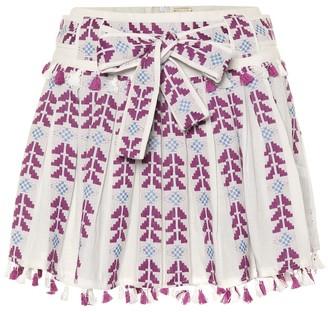 Dodo Bar Or Embroidered cotton miniskirt