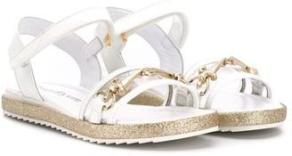 Cesare Paciotti Kids buckle open-toe sandals