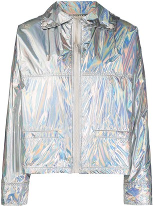 Yves Salomon Metallic Quilted Jacket