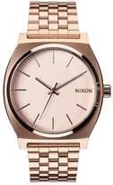 Nixon Time Teller Rose Tone Dial Rose Tone Bracelet Watch