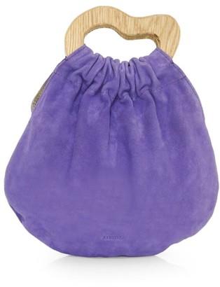 Nanushka Mini Mahala Suede Top Handle Bag