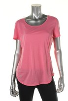 Lauren Ralph Lauren Womens Slub Seamed T-Shirt