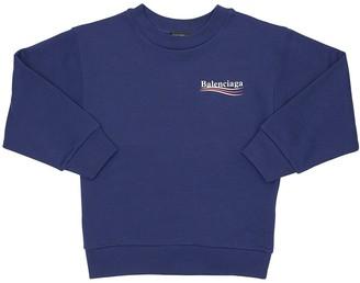 Balenciaga Logo Print Cotton Sweatshirt