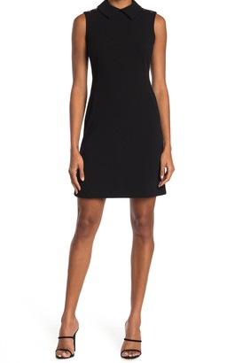 Tommy Hilfiger Collared Sleeveless Scuba Sheath Dress