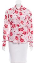 Loro Piana Floral Print Silk Top
