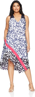 Rachel Roy Women's Plus Size Mixed Scarf Dress