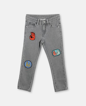 Stella Mccartney Kids Denim Pants with Badges, Men's