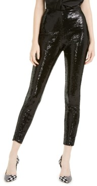 INC International Concepts Inc Sequined Skinny Ankle Pants, Created for Macy's