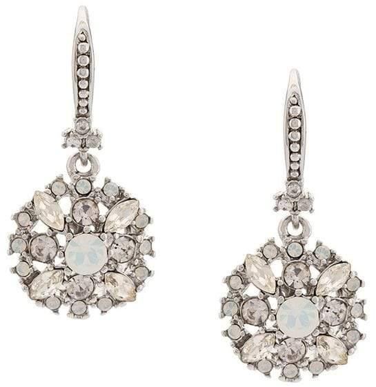 Marchesa crystal pendant earrings