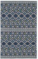 Tribeca Flatweave Blue Wool Rug (3'6 x 5'6)