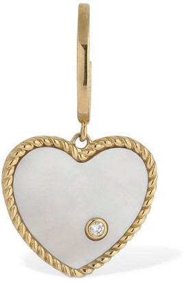 9kt Creole Coeur Nacre Mono Earring
