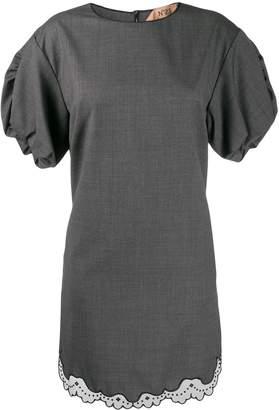 No.21 lace trim short dress