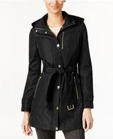MICHAEL Michael Kors Hooded Belted Raincoat