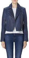J Brand Aiah Leather Jacket In Sea Tangle