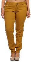 Mustard Five-Pocket Skinny Pants - Plus Too