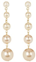 Yochi Tree of Life Imitation Pearl Earrings