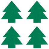 John Lewis Christmas Tree Coasters, Felt, Set of 4
