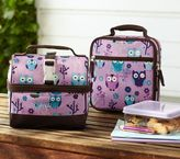 Pottery Barn Kids Mackenzie Lavender Owl Lunch Bags