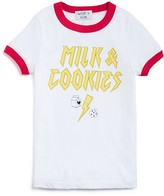 Wildfox Couture Girls' Milk & Cookies Ringer Tee - Sizes 7-14