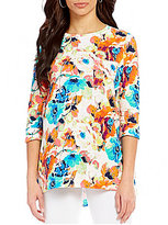 Westbound 3/4 Sleeve Single Pocket Printed Tunic