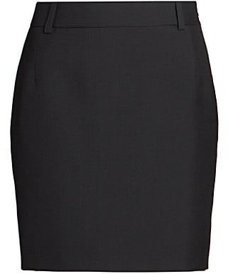 Balenciaga Fitted Wool-Blend Mini Skirt