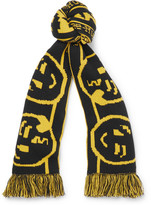 Vetements + Reebok Free Hugs Intarsia-knit Scarf - Yellow
