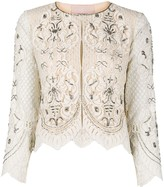 Twin-Set Twin Set cropped lace jacket