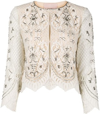 Twin-Set Cropped Lace Jacket