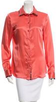 Just Cavalli Silk Button-Up Top