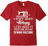 Men's I Just Need To Spend Time With My Sewing Machine T-Shirt Large