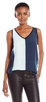 Calvin Klein Jeans Women's Printed Mixed Media Tank Top