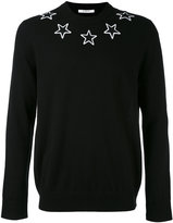Givenchy star embroidered sweater - men - Polyester/Wool - XXL