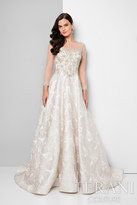 Terani Evening - Detailed Beaded Illusion Neck Ball Gown 1713M3502