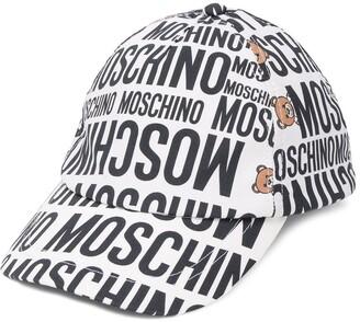 MOSCHINO BAMBINO All Over Logo Print Cap