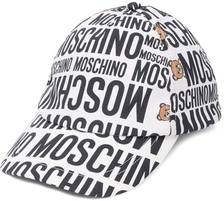 Moschino Kids all over logo print cap