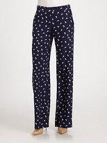 Theory Mitrina Silk Pants