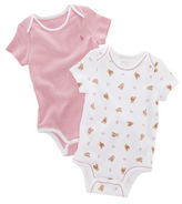 Ralph Lauren Baby Girls Printed and Striped Bodysuits 2-Pack