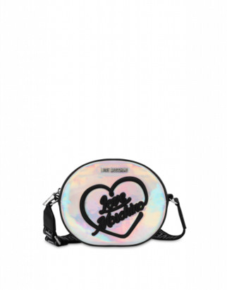 Love Moschino Iridescent Shoulder Bag With Logo Woman Multicoloured Size U It - (one Size Us)
