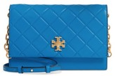 Tory Burch Georgia Quilted Leather Shoulder Bag - Blue