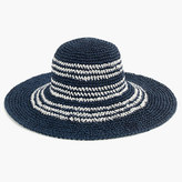 J.Crew Striped straw hat