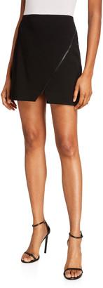 Alice + Olivia Barbra Asymmetrical Zip Mini Skirt