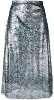 Christopher Kane lace foil midi skirt