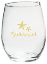 Kate Aspen Set of 4) Bridesmaids Beach Tides 15 Oz. Stemless Wine Glass