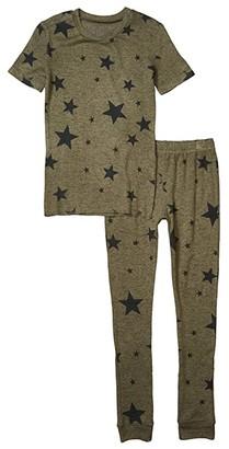PJ Salvage Kids Star Weekend Two-Piece Jammie Set (Toddler/Little Kids/Big Kids) (Olive) Boy's Pajama Sets